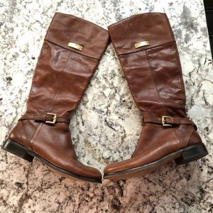 Coach leather boots